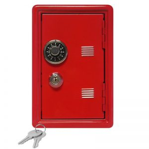 New Arrival Mini Metal Code Case Safe Box Money Bank Saving Box With Key Kids Children Best Gift