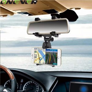 360 Degree Car Auto Rearview Mirror Mount Cell Phone Holder Bracket Stands Stand Cradle For Samsung For iPhone Mobile Phone GPS