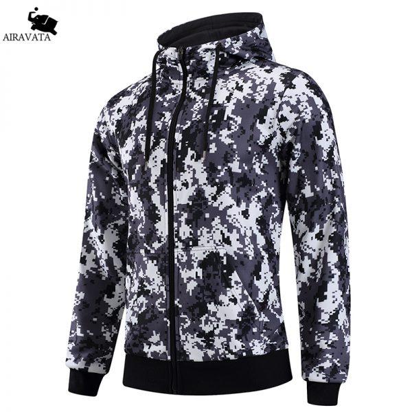 New Arrivals Mens Hoodies and Sweatshirts Zipper Hooded Sweatshirts Male Clothing Fashion Military Hoody For Men Printed Hoodies