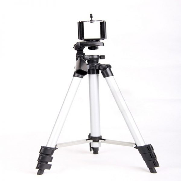 Universal Portable Tripod 4 Sections Tripod+Phone Holder For Cellphone Smartphone Canon Sony Nikon Compact Camera Free Shipping