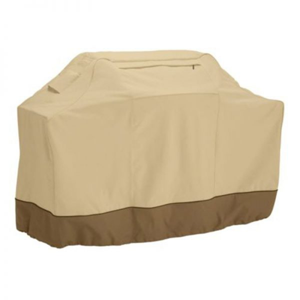 145cm Waterproof BBQ Barbecue Cover Protective Grill Cover with Storage Bag (Khaki)