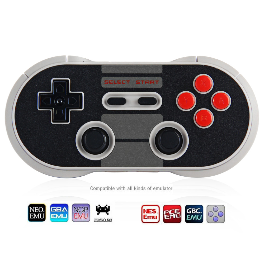8Bitdo NES30 Pro Wireless Bluetooth Gamepad Controller Dual Classic  Joystick for iOS Android Gamepad PC Mac Linux Black Color