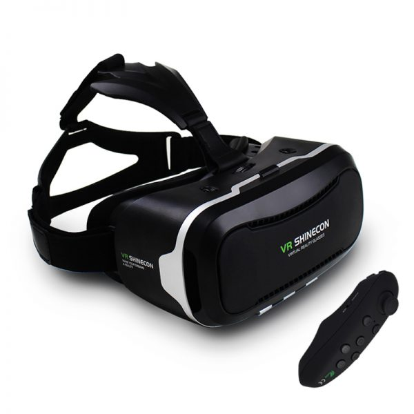 """VR Shinecon II 2.0 Helmet Virtual Reality Glasses Mobile Phone 3D Video Movie for 4.7-6.0"""" phone + Remote Controller"""