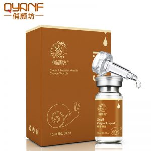 QYF Brand Snail Original Liquid Whitening Moisturizing Removing Red Blood Shrink Pores Face Serum anti-aging Cream Skin Care
