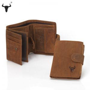 Wallet Men Leather Genuine Men's Bulls Man Vintage Grazy Horse Cowhide Leather Big Capacity Short Purse With Zipper Coin Pocket