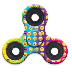 Emoji Fidget Hand Tri-Spinner Stress Relief Manipulative Play Toy