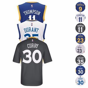 2016-17 Golden State Warriors ADIDAS NBA Replica Player Jersey Collection Men's