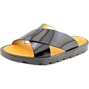 Electric Karma Bickle Women Open Toe Synthetic Black Slides Sandal