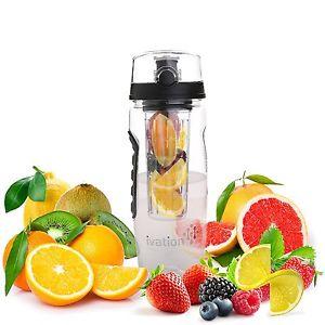 Ivation 32-Oz Fruit Infusing Infuser Water Sports Health Juice Bottle Flip Lid