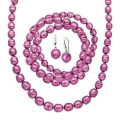 Honora Fuchsia Ringed Pearl Earring
