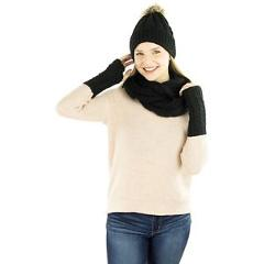 Exotic Identity Women's Hat Infinity Scarf Gloves Out and About Gift Set