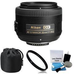 NEW Nikon 35mm f/1.8G AF-S DX Lens for Nikon Digital SLR Cameras + UV Filter Kit