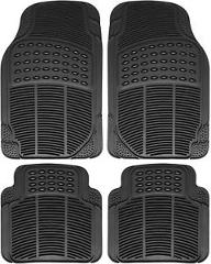 Car Floor Mats for Honda Accord 4pc Set All Weather Rubber Semi Custom Fit Black