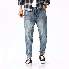 Tsingyi 4XL Monkey Wash Do Old Japan Style Jeans Denim Loose Low Waist Harem Pants Homme Long Length Jogger Mens Trousers