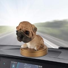 Car Ornament Shaking Head Dog Doll Solid Perfume Decoration Cute Automobile Interior Dashboard Bobble Head Dog Toys Accessories