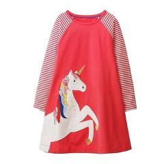 Long Sleeve Girls Dress Unicorn Costumes for Kids Clothes 2018 Brand Fashion Baby Princess Dress Children Clothing Vestidos