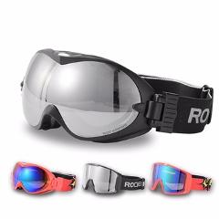 ROCKBROS Ski Goggles Double Layers Anti-Fog Glasses Snow Skiing UV400 Eyewear Snowboard PC Lens Big Mask Men Women Winter Sport