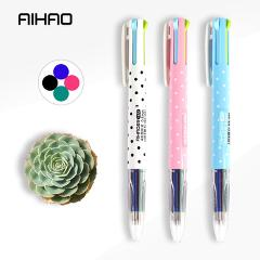 AIHAO Ballpoint Pen 4 Ink Colors Cute Kawaii Creative Pens for Writing Office Stationery School Supplies Gift Pen for Girls/Boys