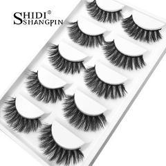 Luxry Thick False Eye Lash 100% Real 3D Mink Eyelashes 5 Pairs Eyelash Makeup Kit Professional Lashes Maquiagem Cilios Natural