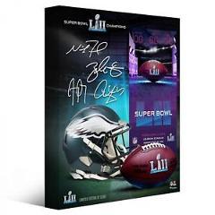 Philadelphia Eagles SBLII Champs 16x20 Canvas & Facsimile Signatures - L.E. 5000