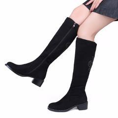 XAMMEP Women's Winter Shoes Knee High Boots Plus Big Size High Quality Faux Suede Brand Women Shoes Wool Women Winter Boots