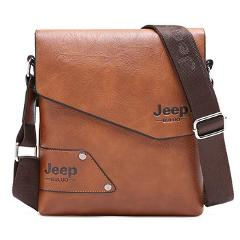 Man Leather Bag Jeep Brand Shoulder Crossbody Bags For Men Cow Split Leather Male iPad Business Messenger Briefcase Travel Bag