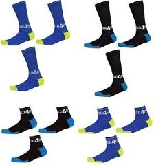 Go4it Men's Sport Compression Socks Performance Reflective Athletic Socks 3-pack