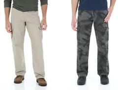Wrangler NEW Mens Cargo Loose Fit Twill Technology Pocket Original Pants