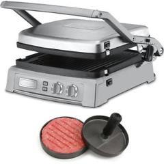Cuisinart Griddler Deluxe - Brushed Stainless + Burger Pattie Maker