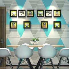 Scandinavian Style Living Room Office Wall Paper Roll Colorful Triangle Graphic Modern Geometric Wallpaper