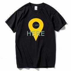 HanHent New Design GPS Positioning T-shirts Men Creative Cotton Short Sleeve Summer Style Tee shirts Streetwear Geeks T shirts