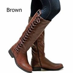 AIWEIYi Women's Fashion Boots Knee High Slim Boots Solid Color Riding Boots Women Elegant Side Zip Comfortable Boots Botas Shoes