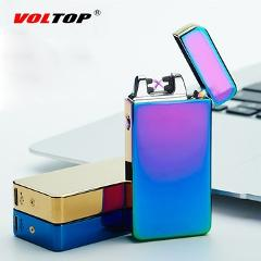 VOLTOP USB Recharge Dual Arc Lighter windproof personality Electric Cigarette Lighter Metal Flameless Torch Rechargeable Smoking