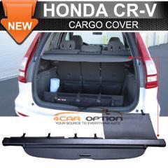 Fits 07-11 Honda CRV OE Style Black Rear Cargo Security Trunk Cover Retractable