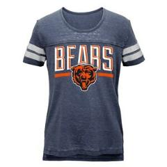 """Chicago Bears Outerstuff NFL Youth Youth Navy Blue Burnout """"Big Stack"""" T-Shirt"""