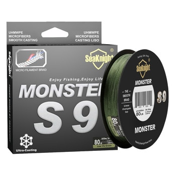 SeaKnight Monster S9 300M 500M PE Fishing Line 9 Strand Reverse Spiral Tech Multifilament Strong Carp Fishing Line 20-100LB