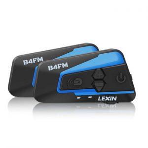 2PCS Lexin B4FM 4 Way Bluetooth Motorcycle Helmet Intercom Headsets