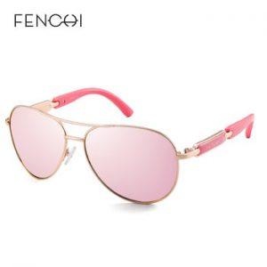 FENCHI Polarized Sunglasses Women Vintage Brand Glasses Driving Pilot Pink Mirror sunglasses Men ladies oculos de sol feminino