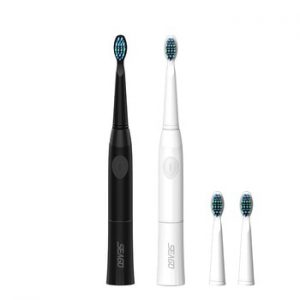 SEAGO Electric Toothbrush with 1 Replacement Brush Heads buy 1 get 1 free  Battery Sonic teeth brush oral hygiene brush E23