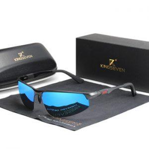 KINGSEVEN Driving Series Polarized Men Aluminum Sunglasses Blue Mirror Lens Male Sun Glasses Aviation Women For Men Eyewear 9121