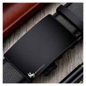 JIFANPAUL brand men's leather genuine belt black fashion alloy luxury automatic buckle youth leather simple business men's belt