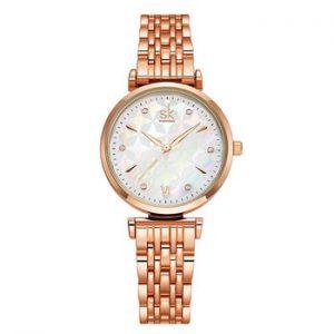 Shengke Brand Luxury Bracelet Women Watch Rosegold Wristwatch Gift for Women Original Design Watch Reloj Mujer
