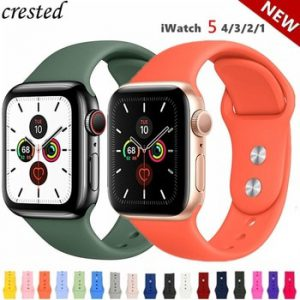 Silicone Strap For Apple Watch band 44 mm/40mm iWatch Band 38mm 42mm 44mm series Sport watchband bracelet apple watch 5 4 3 2 1