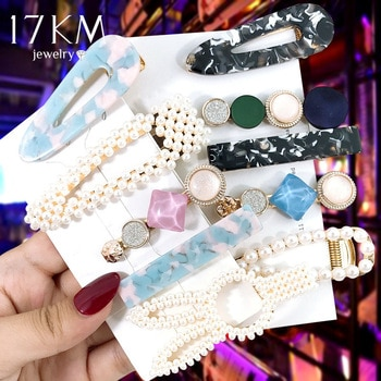 2020 Hair Clip Set Simulated-pearl Hair Clips & Pins For Women Girls Fashion Female Headwear Barrette Hair Accessories Wholesale