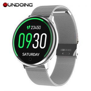 RUNDOING R7 Women Smartwatch 1.22 screen Waterproof  Music Blood Pressure monitor oxygen Men sport smartwatch Android iOS watch