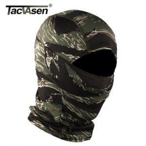 TACVASEN Camouflage Military Tactical Balaclava Hood Ninja Motorcycle Hunt Helmet Liner Headwears Full Face Masks Airsoft Gears