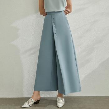 AMII Minimalism Spring Summer Solid Wide Leg Pants Women Causal Trousers High Waist Loose Long Pants 12070188