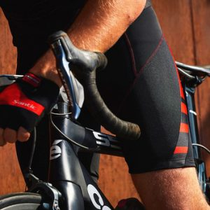 Santic Men Cycling  Shorts Coolmax 4D Pad Shockproof MTB Ciclismo Hombre Team Summer Clothing