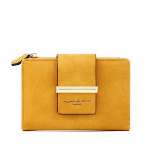 Unishow Multifuncation Wallet Women Small Female Purse Short Brand Designer Ladies Wallet Yellow Women Purse Girl Coin Pocket