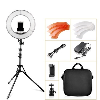 LED Ring Light 14 Inch ring lamp Dimmable 5500K With Tripod For Studio ringlight Photography YouTube Photo Makeup Circular Light